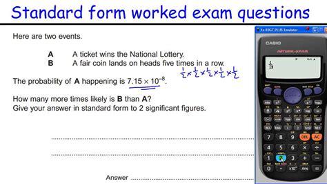 standard form gcse maths revision higher level
