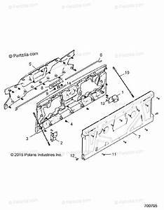 Polaris Side By Side 2017 Oem Parts Diagram For Body  Box