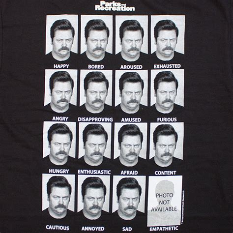 parks  recreation  faces  ron swanson  shirt