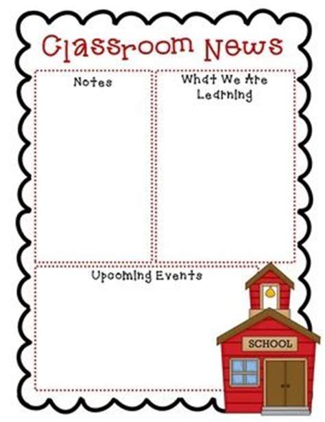newsletter templates  grade classroom