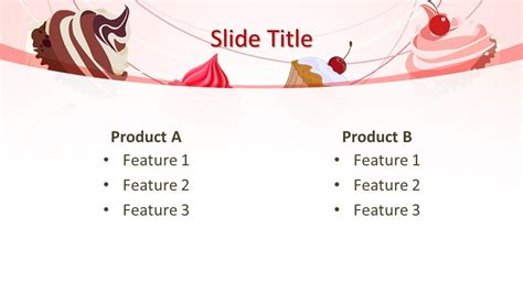 cupcakes powerpoint template  powerpoint templates