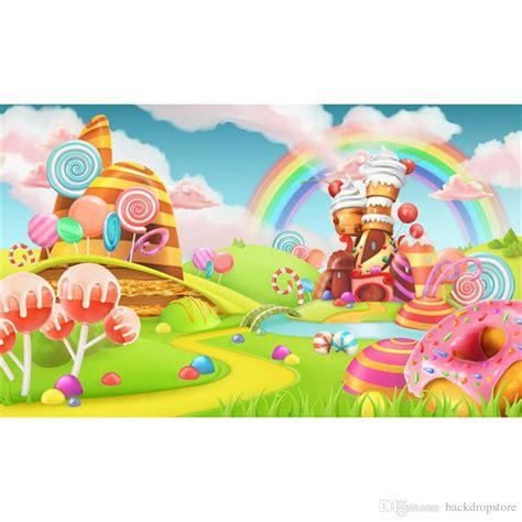 candy land vinyl photography cartoon backdrops rainbow