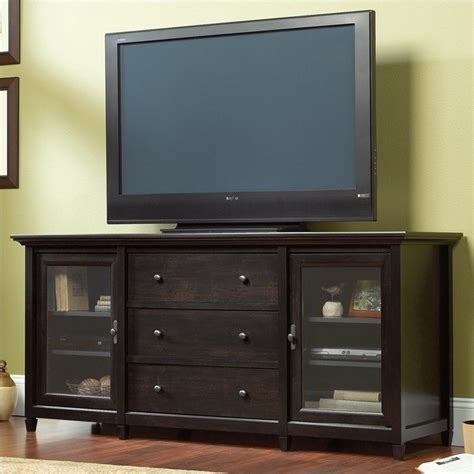 tv credenza black entertainment center edge water 71 quot tv credenza in estate