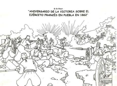 5 de Mayo – Batalla de Puebla para pintar | Colorear imágenes