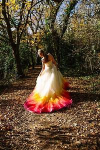 making the pheonix dip dye dress felicity westmacott With dip dyed wedding dress for sale