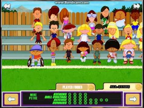 Backyard Football Characters by Backyard Soccer Part 1 Creating The Team