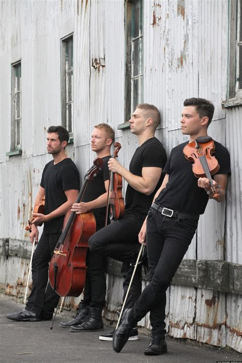 strung  singing string quartet hunky gay