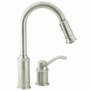 pull kitchen faucet shop moen aberdeen classic stainless pull kitchen faucet at lowes