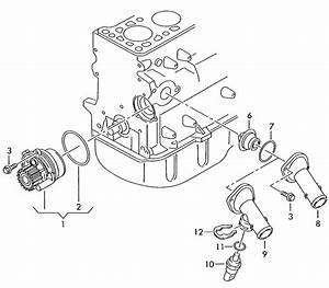 Volkswagen Passat 4 0l W8 8 Cylinder Water Pump With Gasket