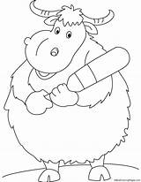 Yak Nepali Coloring Pages sketch template