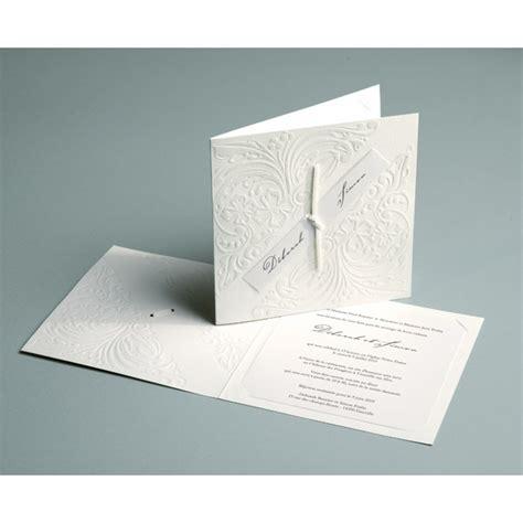 faire part mariage et blanc faire part de mariage traditionnel blanc et relief luxury