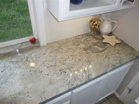 eased edge white piracema granite kitchen countertops