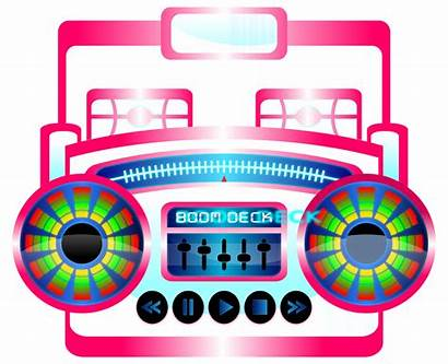 Boombox Clipart Clip Boom Box 80s Pop