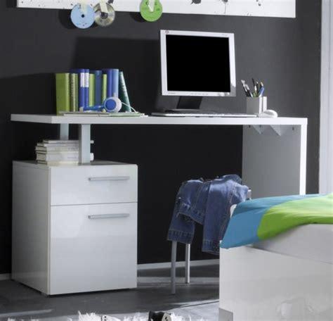 bureau blanc moderne bureau blanc laqué 1 porte 2 tiroirs quot lys quot