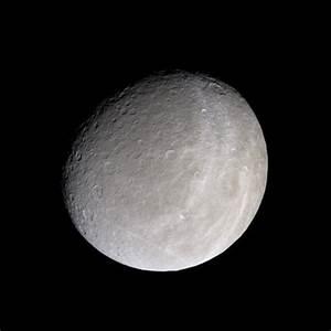 APOD: 2005 February 15 - Saturns Moon Rhea from Cassini