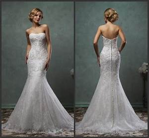 exquisite 2016 amelia sposa lace trumpet wedding dresses With mermaid trumpet wedding dresses
