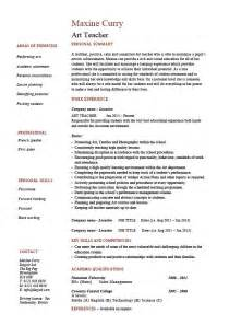 and craft resume format resume exle template sle teaching design description school