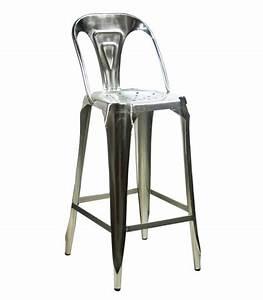 Tabouret Avec Dossier : tabouret de bar avec dossier en acier style industriel ~ Dallasstarsshop.com Idées de Décoration