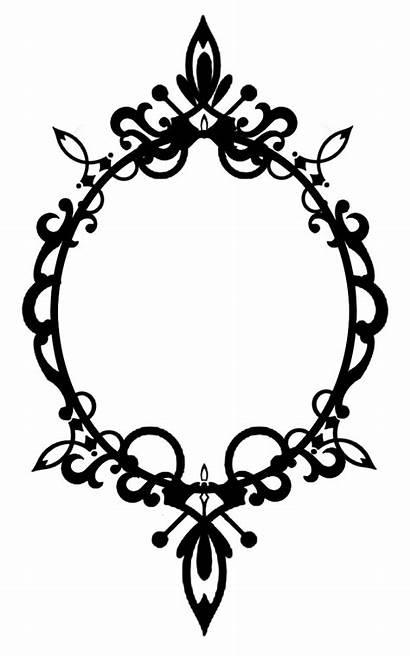 Frame Oval Frames Ornate Border Silhouette Clipart