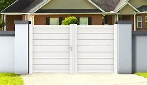 Portail Alu 4m : portail en aluminium blanc double battants zirconium 3 m ~ Voncanada.com Idées de Décoration
