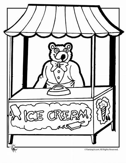 Ice Coloring Cream Pages Parlor Stand Printable