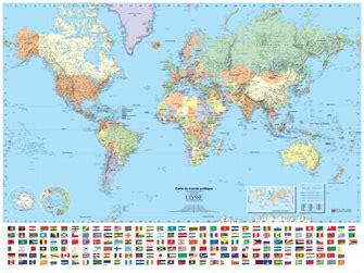 carte du monde murale plastifiee carte du monde politique plastifi 233 e cartes et atlas ulysse
