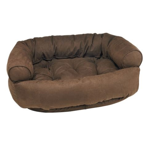 dog beds for the sofa luxury dog bed sofa by bowsers microvelvet cowboy brown