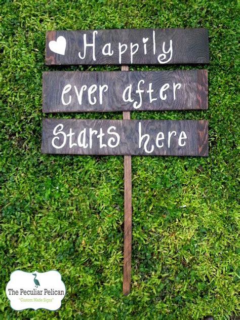 Happily Ever After Starts Here Wedding Sign Custom