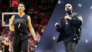 Drake Wears Phoenix Suns39 Devin Booker Jersey On Stage At