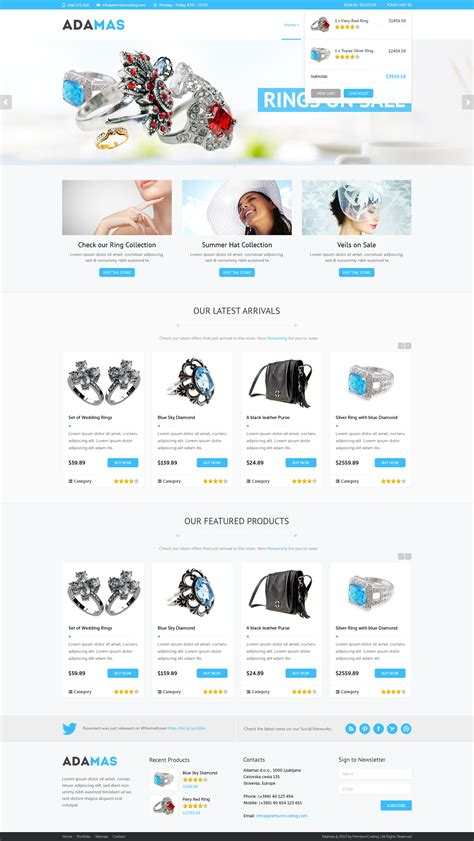 Template Ecommerce by Freebie Adamas Ecommerce Website Psd Template Premiumcoding