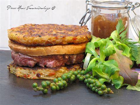 canap駸 au foie gras mon burger de canard au foie gras à la plancha