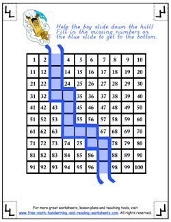 hundreds chart early education printables