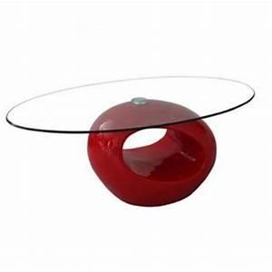 Table Basse En Verre Pas Cher : table basse rouge design en verre ovus achat vente ~ Melissatoandfro.com Idées de Décoration