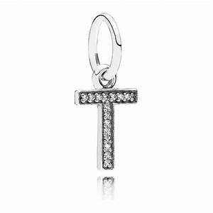 pandora letter t pendant charm 791332cz pandora from With pandora letter charms