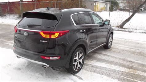 kia sportage black black 2017 sx turbo kia sportage youtube