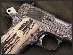 Hand Engraved Colt 1911 Officers Model