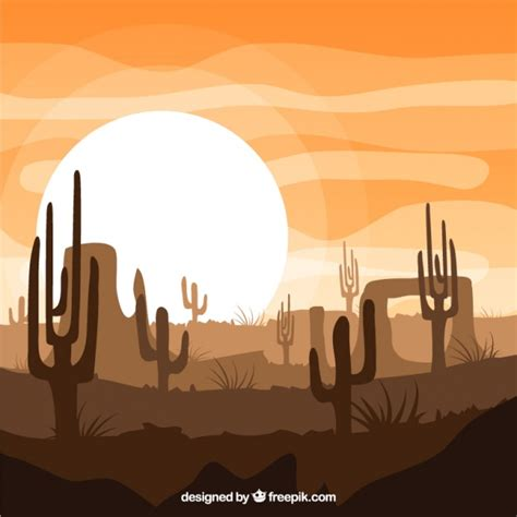 Premium Vector | Wild west nature background