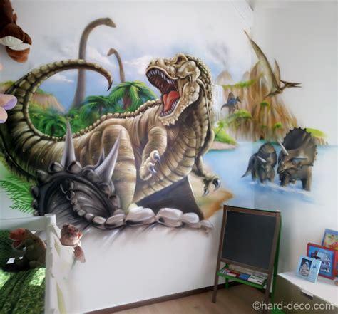 chambre parentale bleue decoration chambre dinosaure visuel 5