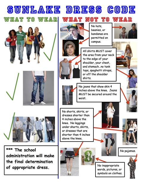 sunlake high school student dress code sunlake high school