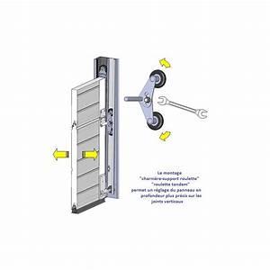 charniere support roulette pour porte de garage sectionnelle With porte de garage sectionnelle spadone
