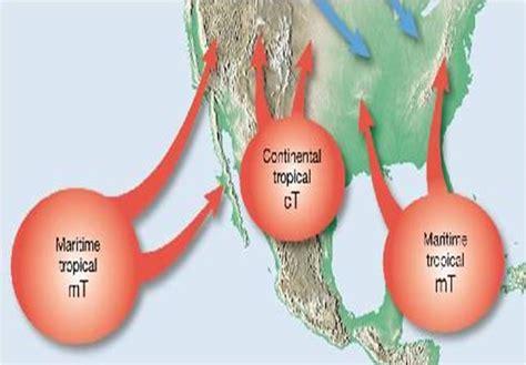 tropical air maritime masses mexico gulf mass mt ocean weather final warm moist front illinois latitude origin low rain lots