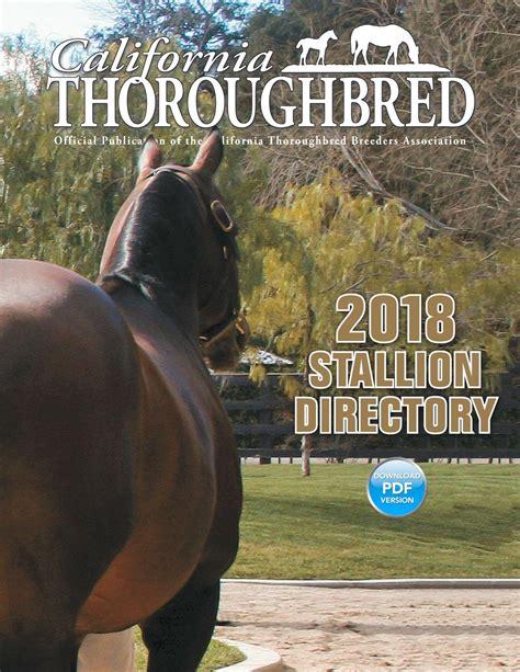 California Thoroughbred Stallion Directory 2018 by CTBA ...