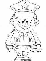 Police Officer Coloring Pages Colouring Cute Little Netart Uniform Woman Sheets Preschool Printable Crafts Print Community Cars Helpers Kid Getdrawings sketch template