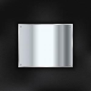 Plaque De Metal : plaque de m tal brillant sur un fond de texture de cuir t l charger des vecteurs gratuitement ~ Teatrodelosmanantiales.com Idées de Décoration