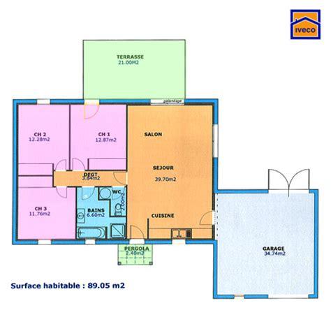 plan maison 3 chambres plan maison plain pied 3 chambres plan maion