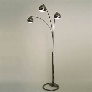 Nova lighting 8051 triplet 3 light arc floor lamp lowe39s for Floor lamp with reading light canada