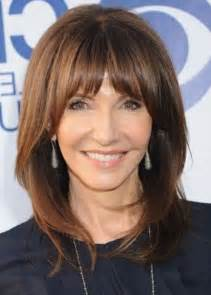 Medium Hairstyles with Bangs Over 50
