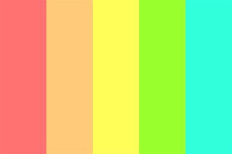 bright color palette bright rainbow colors color palette