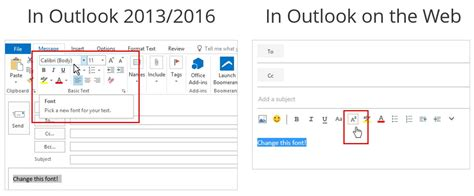 how to change the font of your outlook messages in office