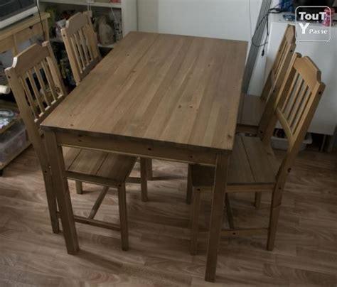 table et 4 chaises en bois ikea brunoy 91800